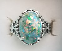 Sterling silver Green Fire opal  Baltimore
