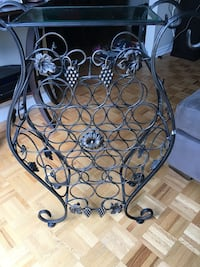 Beautiful metal wine rack purchased at Bombay  Beaconsfield, H9W 5X2