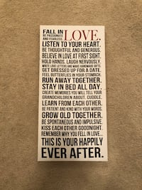 FALL IN LOVE Wall Canvas Wall Art Surrey, V4N 3E8