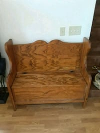 Solid wood foyer bench with under storage McHenry, 60050