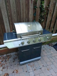 Moving Sale - 4 Burner Grill w/ cover & rotisserie