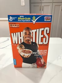 Adrian Peterson Wheaties box, sealed, unopened  Chantilly, 20151