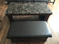 "Hodgkinson coffee table with ottoman. $225 firm. $335 new. Excellent condition. 50"" L, 26"" W, 19"" H"