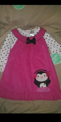 24 MONTHS Babygirl Dress With Long Sleeve Onesie Downey, 90242