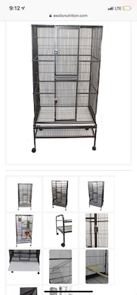 black metal wire pet cage Fletcher, 28732
