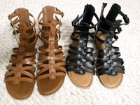 two pairs of brown leather sandals Calgary, T2T 1R8