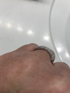 1.70 ctw round and baguette white zircon