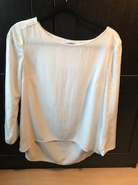 White Calvin Klein shirt with studded sleeves size medium  Richmond, V6Y 3E6