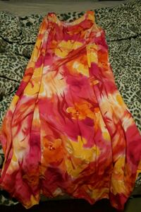 pink and yellow floral print dress Greater Manchester, BL3 2JN