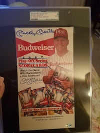 Authentic Autographed Mickey Mantle Budweiser Ad Spring, 77379