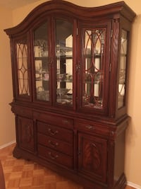 brown wooden display cabinet VANCOUVER