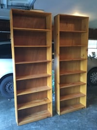 Oak Bookshelves Gaithersburg
