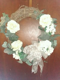 Beautiful White Rose and Hydradrendea Wreath.