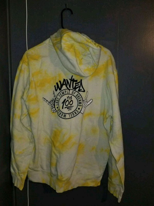 yellow and white long sleeve shirt