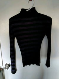 black and gray striped sweater Oakville, L6H 2R8