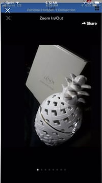 NEW LENOX PIERCED PORCELAIN pineapple COVERED BOX NEW In Box  Great for candy or Potpourri make a nice gift!! Bethlehem, 18017