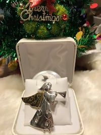 Pretty!! Silver Angel pin with stars & horn Gainesville, 20155