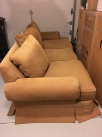 brown fabric 3-seat sofa Alexandria, 22301