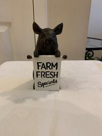 Adorable Pig With Sandwich Board Sign