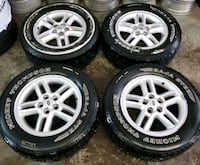 Land rover rims and tires all terrain  Toronto, M6L 1A4
