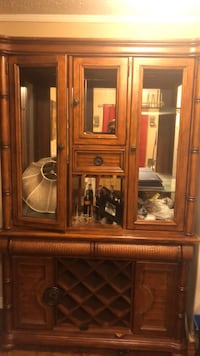 China Cabinet & Wooden Table