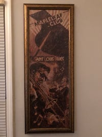 Saint louis blues poster with brown frame Marietta, 30008