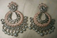 silver and diamond studded earrings Baltimore, 21207