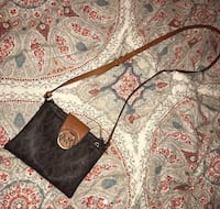 Black and brown leather crossbody bag Southfield, 48033