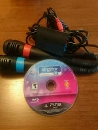PS3 Singstar +Dance Part Pack w/ 2 microphones