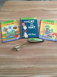 Leapfrog tag reader with 3 books