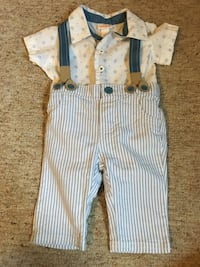 baby's white and blue footie pajama Trumbull, 06611