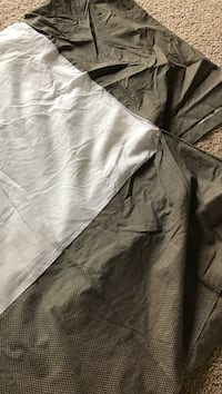 White and gray textile