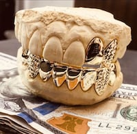 6 bottom $150 grillz gold teeth jewelry  Coral Springs, 33065