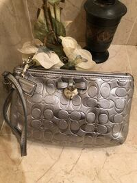 gray and black Coach monogram tote bag Downey, 90241