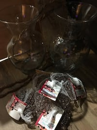 2 glass vases and 6 bags of pink marbles  Cotati, 94931