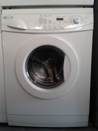 white front-load washing machine null