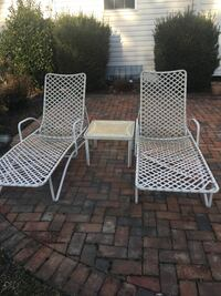 two gray metal framed armchairs Ellicott City, 21043