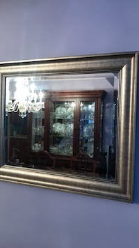 Mirror in a silver frame. Beveled glass mirror. Brand new. Great gift  Toronto, M8Y 1N7