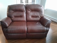 brown leather 2-seat recliner MONTREAL