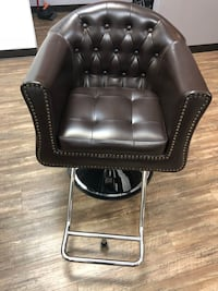 black leather padded rolling armchair Clinton, 20735
