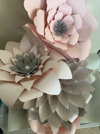Blush and grey paper flowers Saint Peters, 63376