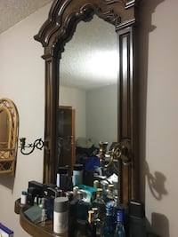 Large mirror with brass candle holders  Calgary, T2Y 2W5