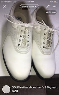 GOLF leather shoes men's 8.5-great condition