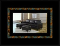Black sectional with ottoman Riverdale Park