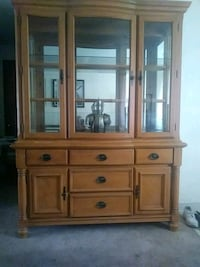 brown wooden china buffet hutch Eugene, 97405