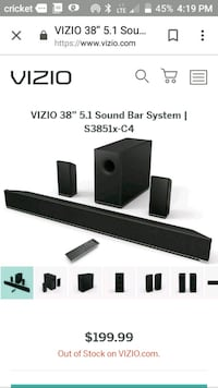 Sony vizio sound bar works perfect 100 obo Knoxville, 37917