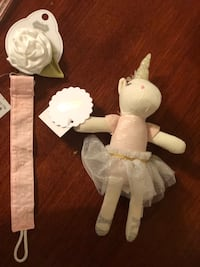 NEW Unicorn Rattle and Pacy Clip by Mudpie Smyrna, 37167