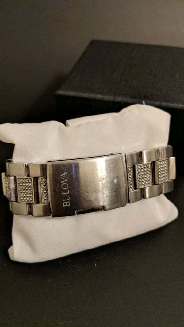 Bulova Men's Crystal Accent Stainless Steel Watch 4e54eee2-0cba-420a-8881-1c4ccf9696d8