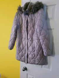 Warm, lightweight gray quilted winter coat Waterford, N0E 1Y0