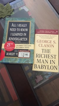 two assorted-title books 18 mi